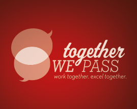 Together We Pass logo
